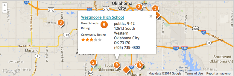 find school ratings with the greatschools wid for your